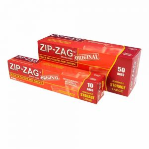 XL Zip-Zag Bags x 10