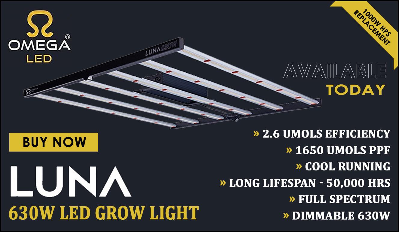 Omega Luna 630W LED Grow Light Hydrohobby