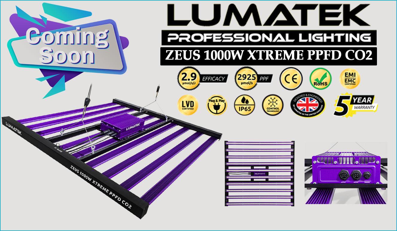Lumatek Zeus 1000w XTREME PPFD LED Grow Light
